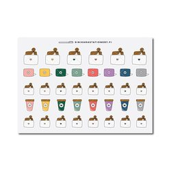 Sinikara Stationery Planner Stickers Laptop Girls - new
