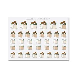 Sinikara Stationery Planner Stickers Grocery Shopping Girls