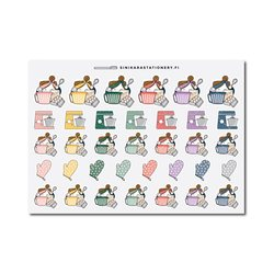 Sinikara Stationery Planner Stickers Baking Girls