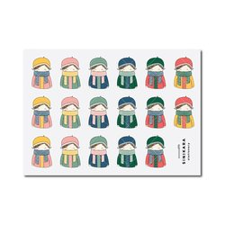 Sinikara Stationery Planner Stickers Autumn Girls