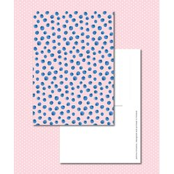Sinikara Stationery Postcard Blueberries Pink