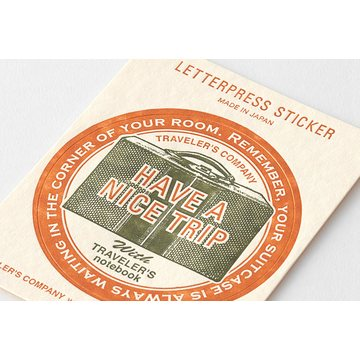 Traveler's Company Limited Edition Travel Tools Traveler's Notebook Letterpress Sticker Red
