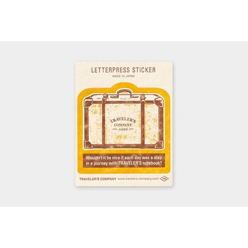 Traveler's Company Limited Edition Travel Tools Traveler's Notebook Letterpress Sticker Yellow