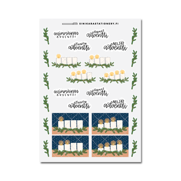 Sinikara Stationery Planner Stickers Advent Candles
