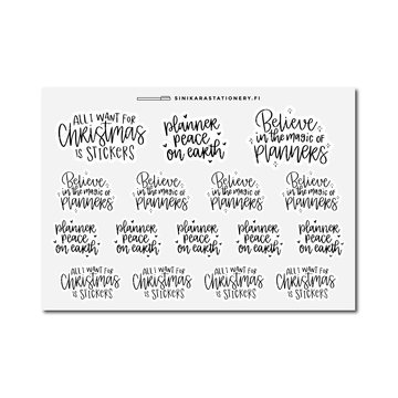 Sinikara Stationery Planner Stickers Christmas Planner Puns