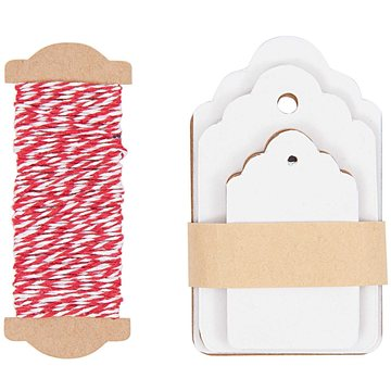 Paper Poetry Gift Tags White