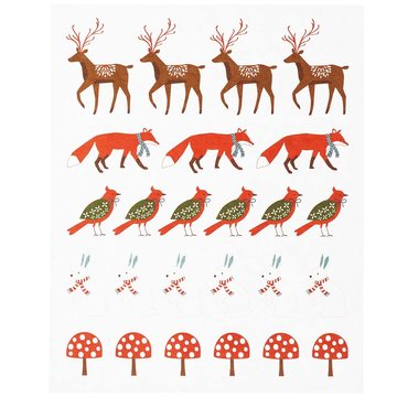 Paper Poetry Stickers Christmas Forest