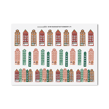 Sinikara Stationery Planner Stickers Christmas Houses (Basic)