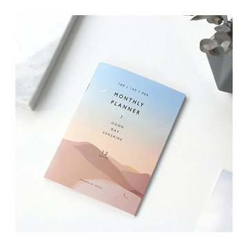 Iconic Monthly Planner A6 Desert