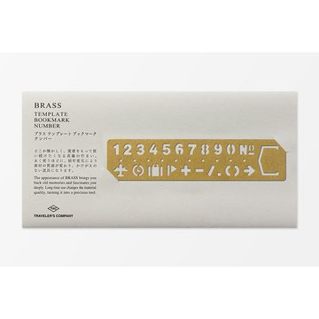 Traveler's Company BRASS - Bookmark Numbers