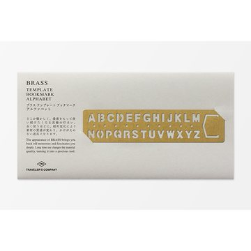 Traveler's Company BRASS - Bookmark Alphabet