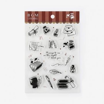 BGM Books and Writing Rubberstamp Set