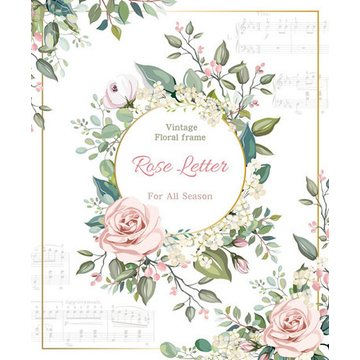 Frontia Vintage Musical Rose Letterpad