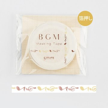 BGM Musical Note Foil Washitape 5mm