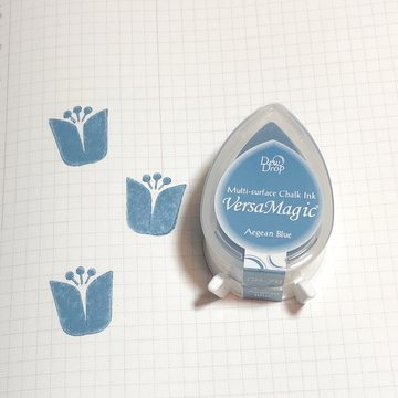 Tsukineko Versa Magic Chalk Ink Pad Dew Drop - Aegean Blue