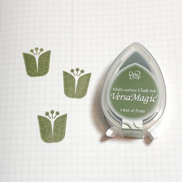 Tsukineko Versa Magic Chalk Ink Pad Dew Drop - Hint of Pesto