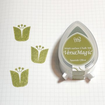Tsukineko Versa Magic Chalk Ink Pad Dew Drop - Spanish Olive