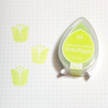 Tsukineko Versa Magic Chalk Ink Pad Dew Drop - Key Lime