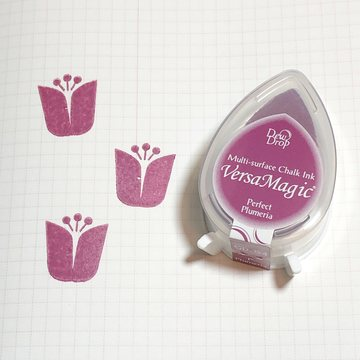 Tsukineko Versa Magic Chalk Ink Pad Dew Drop - Perfect Plumeria