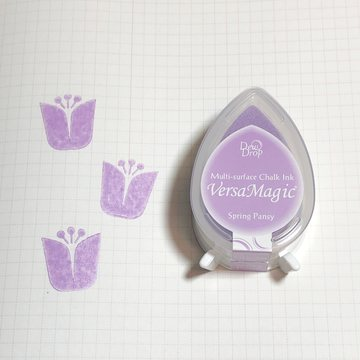 Tsukineko Versa Magic Chalk Ink Pad Dew Drop - Spring Pansy