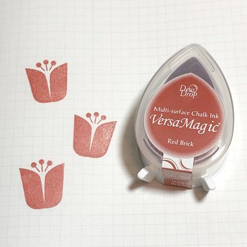 Tsukineko Versa Magic Chalk Ink Pad Dew Drop - Red Brick