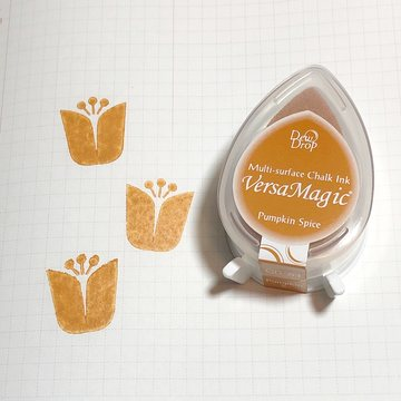 Tsukineko Versa Magic Chalk Ink Pad Dew Drop - Pumpkin Spice