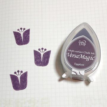 Tsukineko Versa Magic Chalk Ink Pad Dew Drop - Eggplant