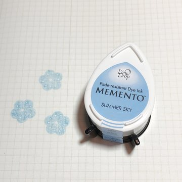 Tsukineko Memento Dew Drop Ink Pad - Summer Sky