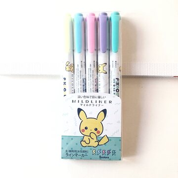 Zebra Mildliner 5 colors set LIMITED EDITION Pokemon Light