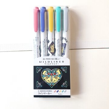 Zebra Mildliner 5 colors set LIMITED EDITION Pokemon Dark