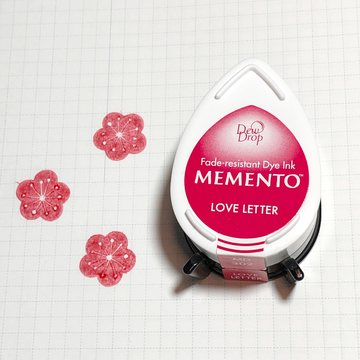 Tsukineko Memento Dew Drop Ink Pad - Love Letter