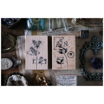 Lin Chia Ning Dried flower stamp set C.