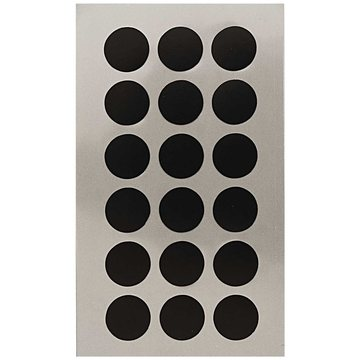 Paper Poetry Black 15mm Dot Stickers 4 sheets
