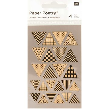 Paper Poetry Kraft Triangle Stickers 4 sheets