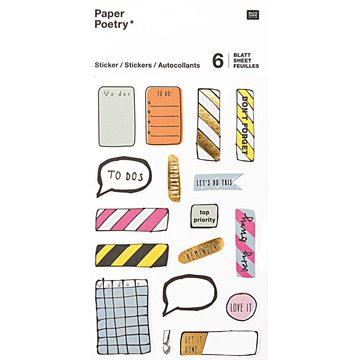 Paper Poetry Magical Notes Stickers 6 sheets