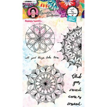Studio Light Rubberstamp Set Art by Marlene Mandala