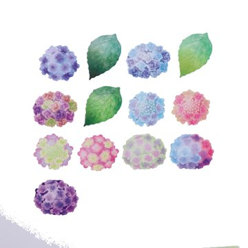 Bande Washi Roll Sticker Hydrangea