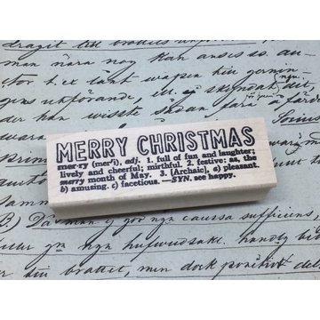 Catslife Press Merry Christmas Rubberstamp