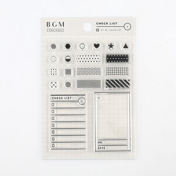 BGM Functional Rubberstamp Set Check List