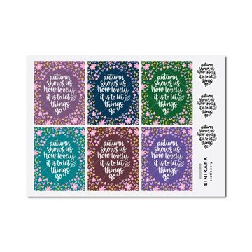 Sinikara Stationery Planner Stickers Fallen For You Script Boxes