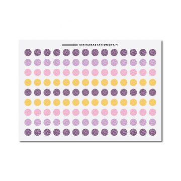 Sinikara Stationery Planner Stickers Tiny Polka Dot Circles (Fallen For You)