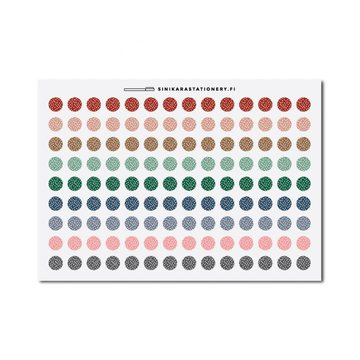 Sinikara Stationery Planner Stickers Tiny Polka Dot Circles (Muted)