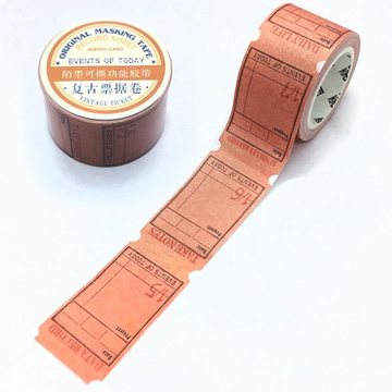 Tokyo Antique Vintage Ticket Paper Tape Events of Today
