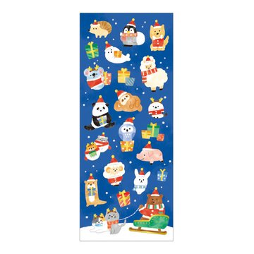 Mind Wave Winter Selection Christmas Animals Masking Sticker Foil